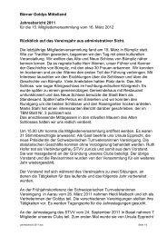 Jahresbericht 2011 - Turnverband Bern Mittelland