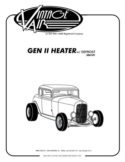 gen ii heater - Vintage Air Vintage Air Slimline Wiring Diagram on
