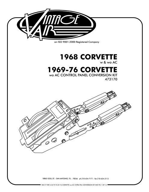 1969 corvette chassis wiring diagram 1968 corvette 1969 76 corvette vintage air  1968 corvette 1969 76 corvette