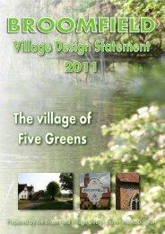 Broomfield Village Design Statement - Chelmsford Borough Council