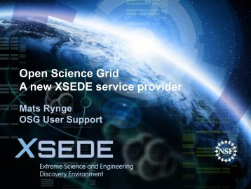 The Open Science Grid - XSEDE