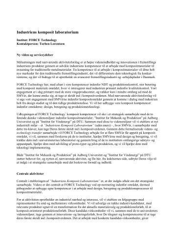 Industriens komposit laboratorium.pdf - BedreInnovation.dk