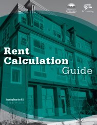 Rent Calculation Guide - BC Housing