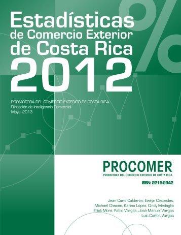 Estadísticas de Comercio Exterior de Costa Rica 2012