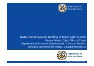 Institutional Capacity Building in Trade and Tourism