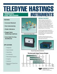 Thermocouple Gauge Tubes Data Sheets - Chell Instruments Limited