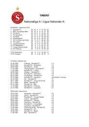 1960/61 Nationalliga A / Ligue Nationale A: - Super Servette