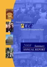 2008 Annual Report - Catholic Diocese of Christchurch
