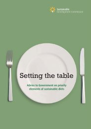 Setting the Table - Sustainable Development Commission