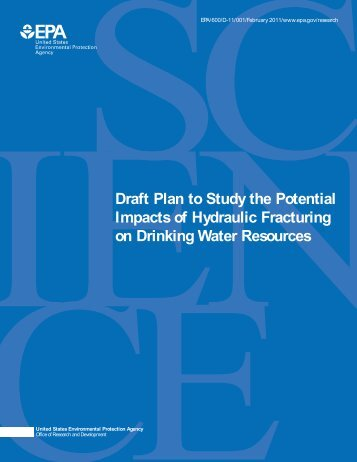 Draft Plan to Study the Potential Impacts of Hydraulic ... - Water