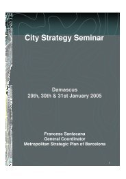 City Strategy Seminar - Euromedina