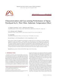 Substrate Temperature Effect - Transactions on Electrical and ...