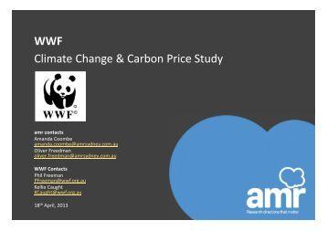 Climate Change & Carbon Price Study WWF - wwf - Australia