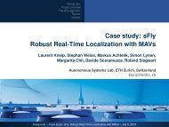 Case study: sFly Robust Real-Time Localization with MAVs