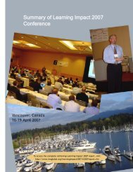 Summary of Learning Impact 2007 Conference - IMS Global ...
