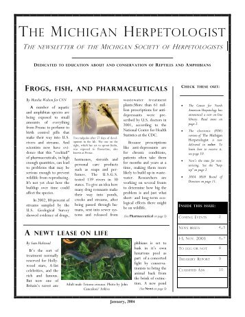 2004 working copy - Michigan Society of Herpetologists
