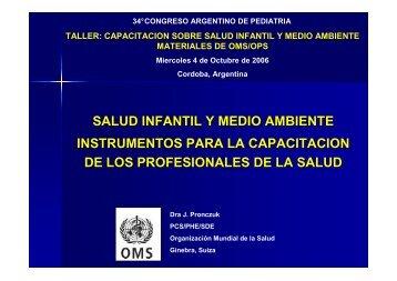 salud infantil y medio ambiente - Sociedad Argentina de Pediatría