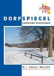 1 Februar/März - Hochfelden
