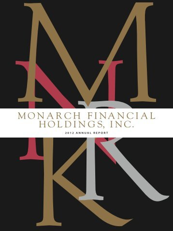 2012 Annual Report - Monarch Bank