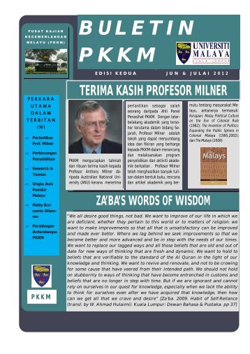 buletin pkkm edisi 2 - Universiti Malaya
