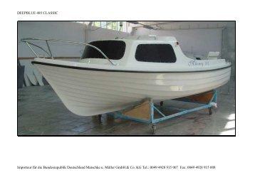 Deepblue 485 classic - Matschke u. Müller GmbH & Co. KG >>> Boote