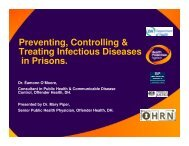Preventing, Controlling & Treating Infectious Diseases in Prisons.