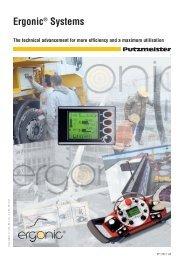 Ergonic brochure BP 3763 - Putzmeister