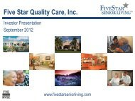 Five Star Quality Care, Inc. - Five Star Senior Living