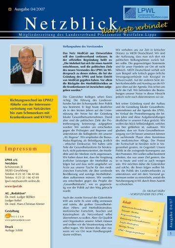 Netzblick - Landesverband Praxisnetze Nordrhein-Westfalen