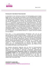 Schwerpunkt Internistische Psychosomatik - Segeberger Kliniken ...