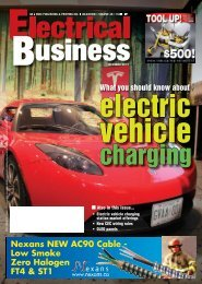 What you should know about - Electrical Business Magazine