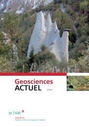 Geoscience ACTUEL 3/2007 - Platform Geosciences - SCNAT