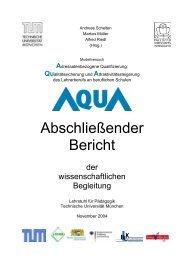 Abschließender Bericht - Lehrstuhl für Pädagogik - Technische ...
