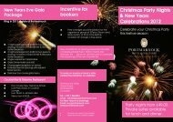 Christmas Party Nights & New Years Celebrations 2012 Incentive for ...