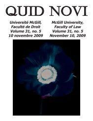 November 10, 2009 - Latest Issue - McGill University