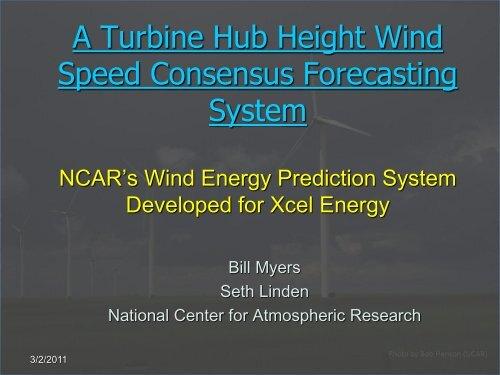 A Turbine Hub Height Wind Speed Consensus Forecasting System