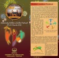 Brochure of University Golden Jubilee Festival