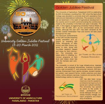 Brochure of University Golden Jubilee Festival