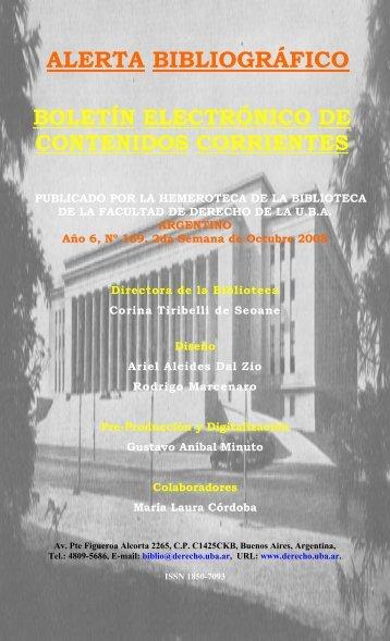 Año 6 - Facultad de Derecho - Universidad de Buenos Aires