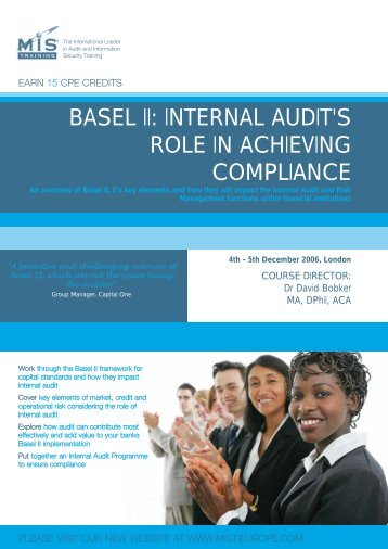 BASEL II: INTERNAL AUDIT'S ROLE IN ACHIEVING ... - MIS Training