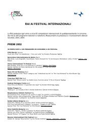 DOWNLOAD FILE - Acrobat pdf - Prix Italia 2009