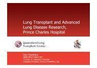 Queensland Lung Transplant Research - School of Medicine
