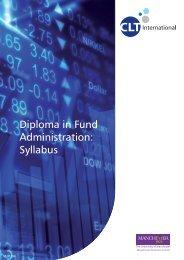 Diploma in Fund Administration: Syllabus