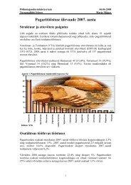 Pagaritööstuse ülevaade 2007. aasta - Põllumajandusministeerium