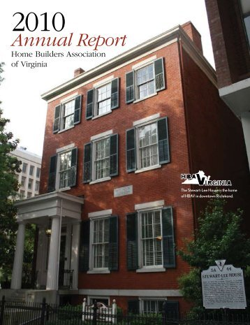 2010 HBAV Annual Report - Home Builders Association of Virginia