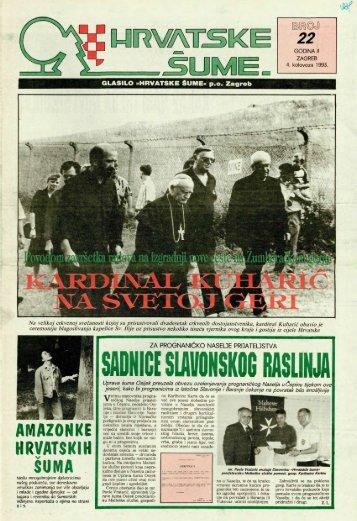 HRVATSKE ŠUME 22 (4.8.1993.)