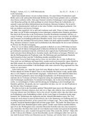 Predigt am 1. Advent, 4.12.2011, Pfr. Pohl - Kirchspiel Großenhainer ...