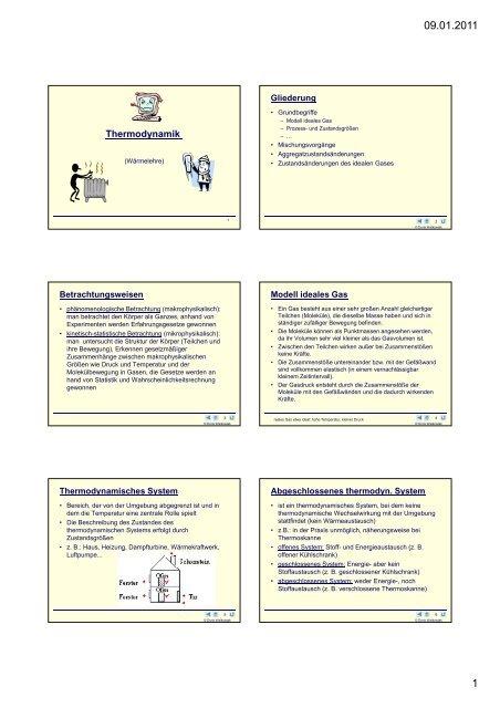 Thermodynamik - Walko.de