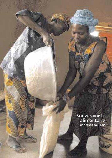 Souveraineté alimentaire : un agenda pour agir(2008) - Cncd