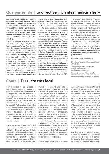 La directive « plantes médicinales » Conte | Du sucre très local